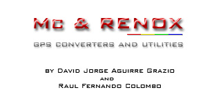 GPS converters and utilities - by David Jorge Aguirre Grazio and Raul Fernando Colombo
